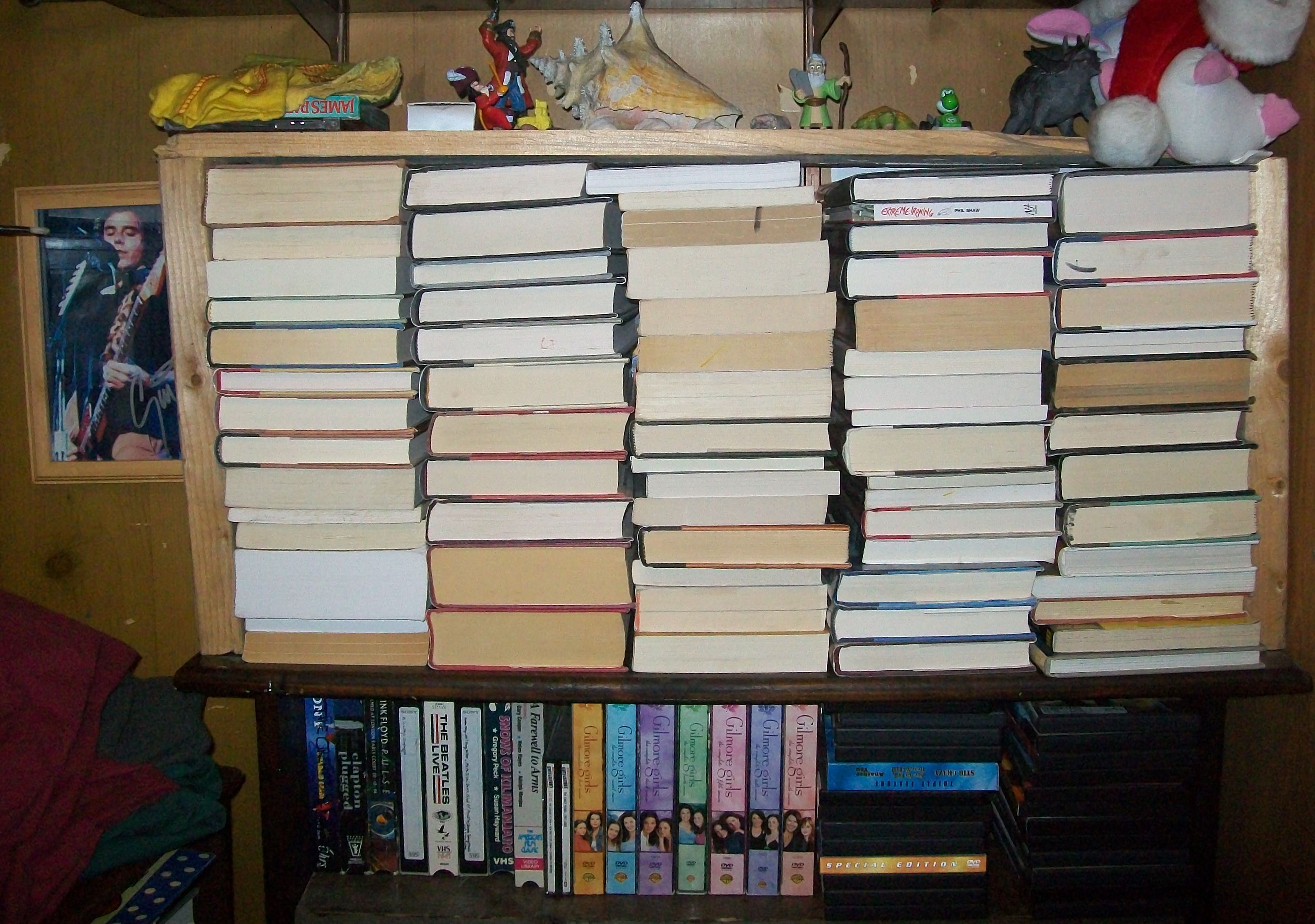 This Section Of Books Is Held In Place My A Make Shift Frame I Made Over The Summer Without It There Would Be Unusable Space Left On Top Bookshelf